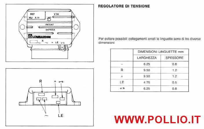 Schema Elettrico Regolatore Di Tensione Ape 50 : Schema regolatore di tensione lombardini fare una mosca